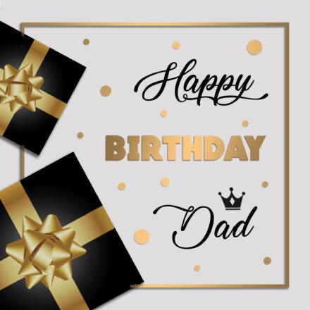 Free Happy Birthday Image For Dad With Gifts - birthdayimg.com