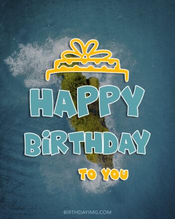 Free Happy Birthday Image With Beautiful Beach - birthdayimg.com