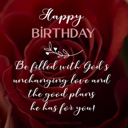Free Happy Birthday Image With Blessings And Red Rose - birthdayimg.com